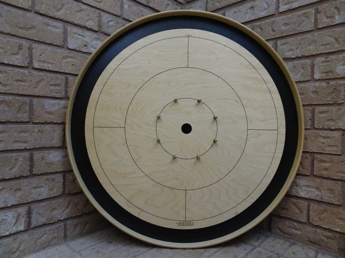 Black Tour Board from Crokinole Game Boards