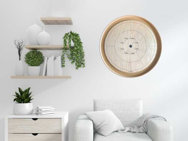 Crokinole Board Wall Mount by Crokinole Game Boards