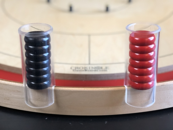 Crokinole Button Holders with Buttons by Crokinole Game Boards