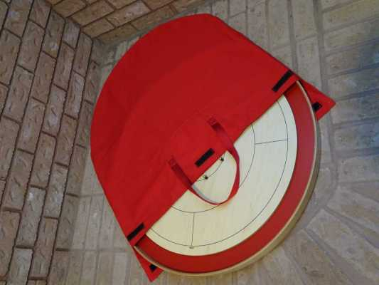 Crokinole Carrying Bag Open Lying Down by Crokinole Game Boards