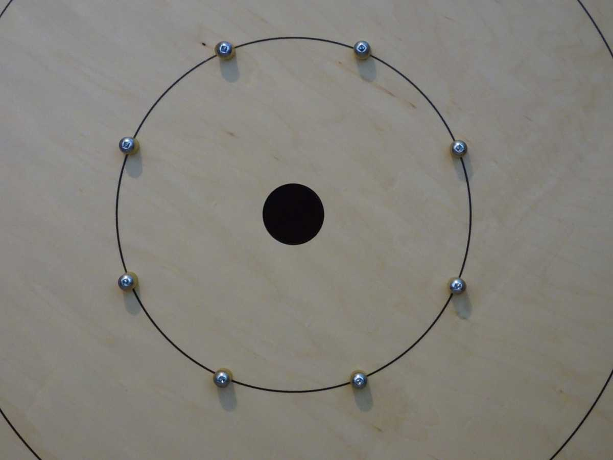 Crokinole Standard Board (Closeup) by Crokinole Game Boards