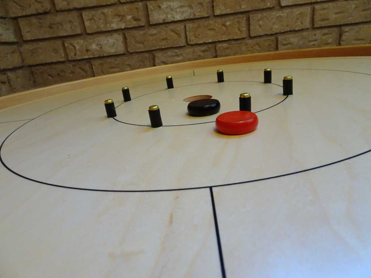 Crokinole Standard Board with Buttons by Crokinole Game Boards