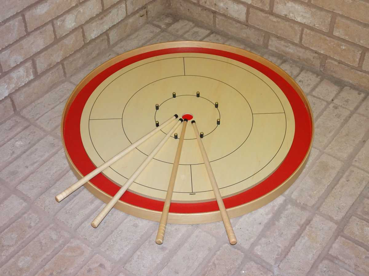 Crokinole Tour Board and Cues by Crokinole Game Boards