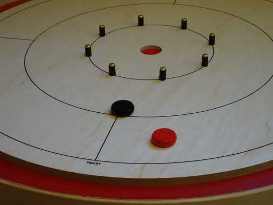 Crokinole Tour Board with Buttons by Crokinole Game Boards