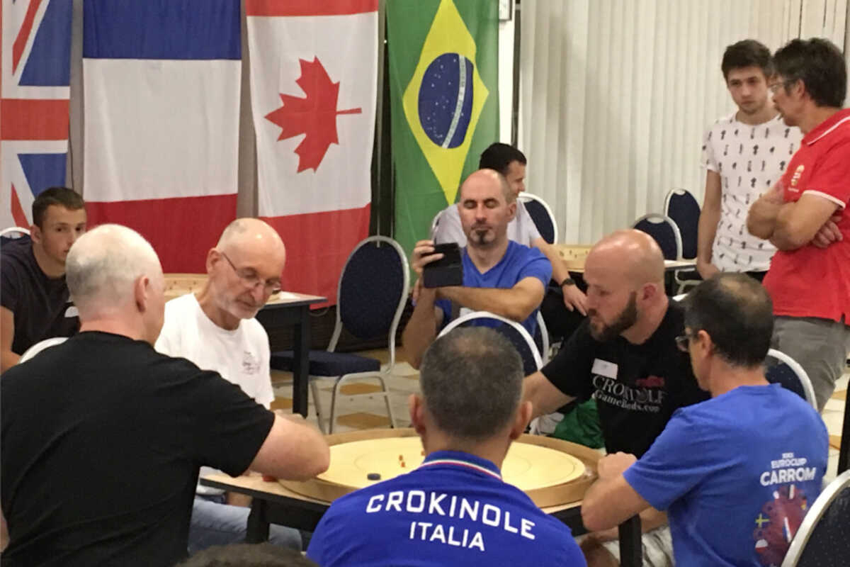 Jeremy Tracey and Brian Cook representing Canada at The World Cup of Crokinole