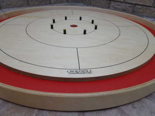 Play on the Red Tour Board from Crokinole Game Boards