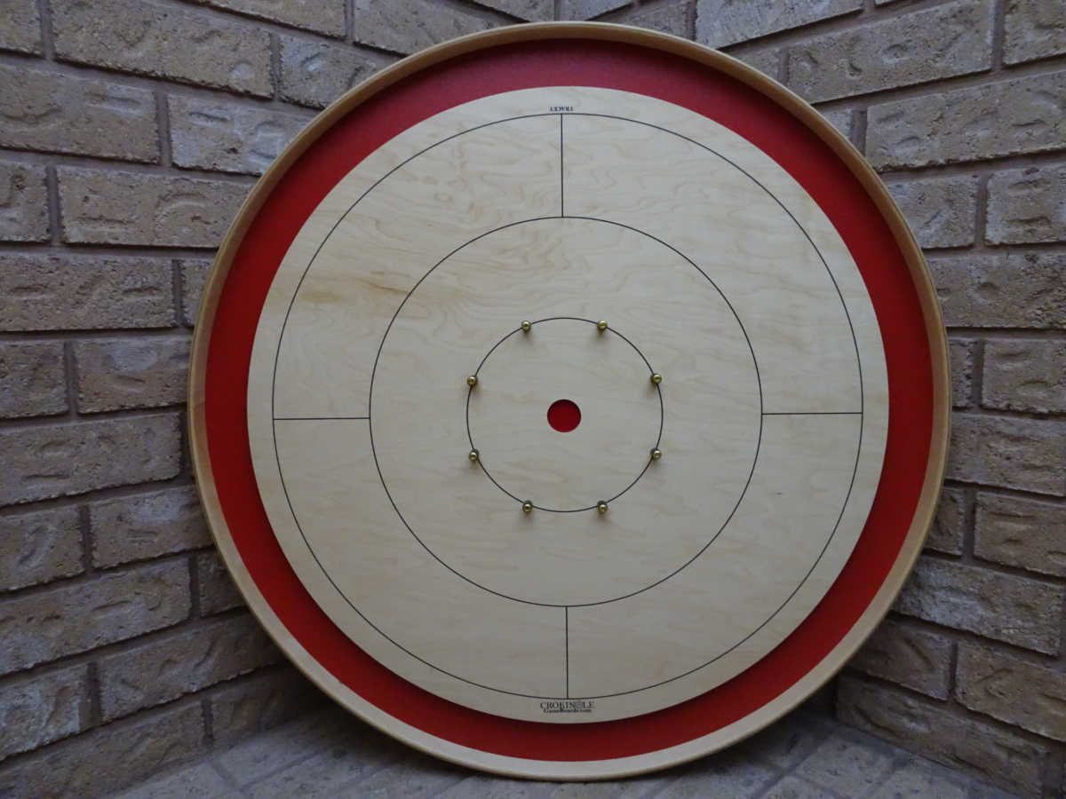Red Tour Board from Crokinole Game Boards