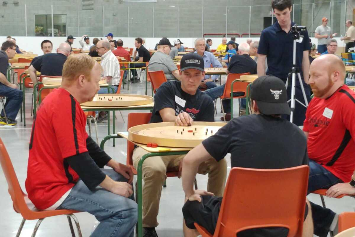 Reid and Nolan Tracey at the World Crokinole Championship