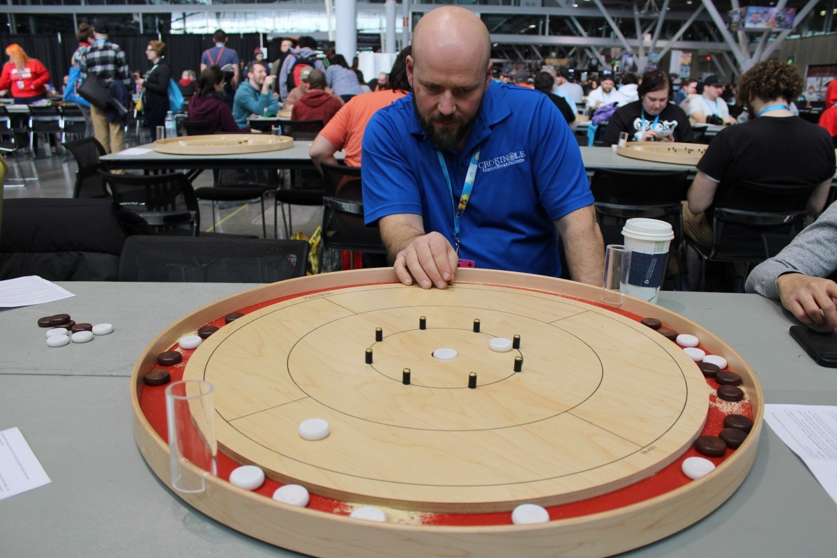 Super Gamer Podcast Photo Jeremy Tracey of Crokinole Game Boards
