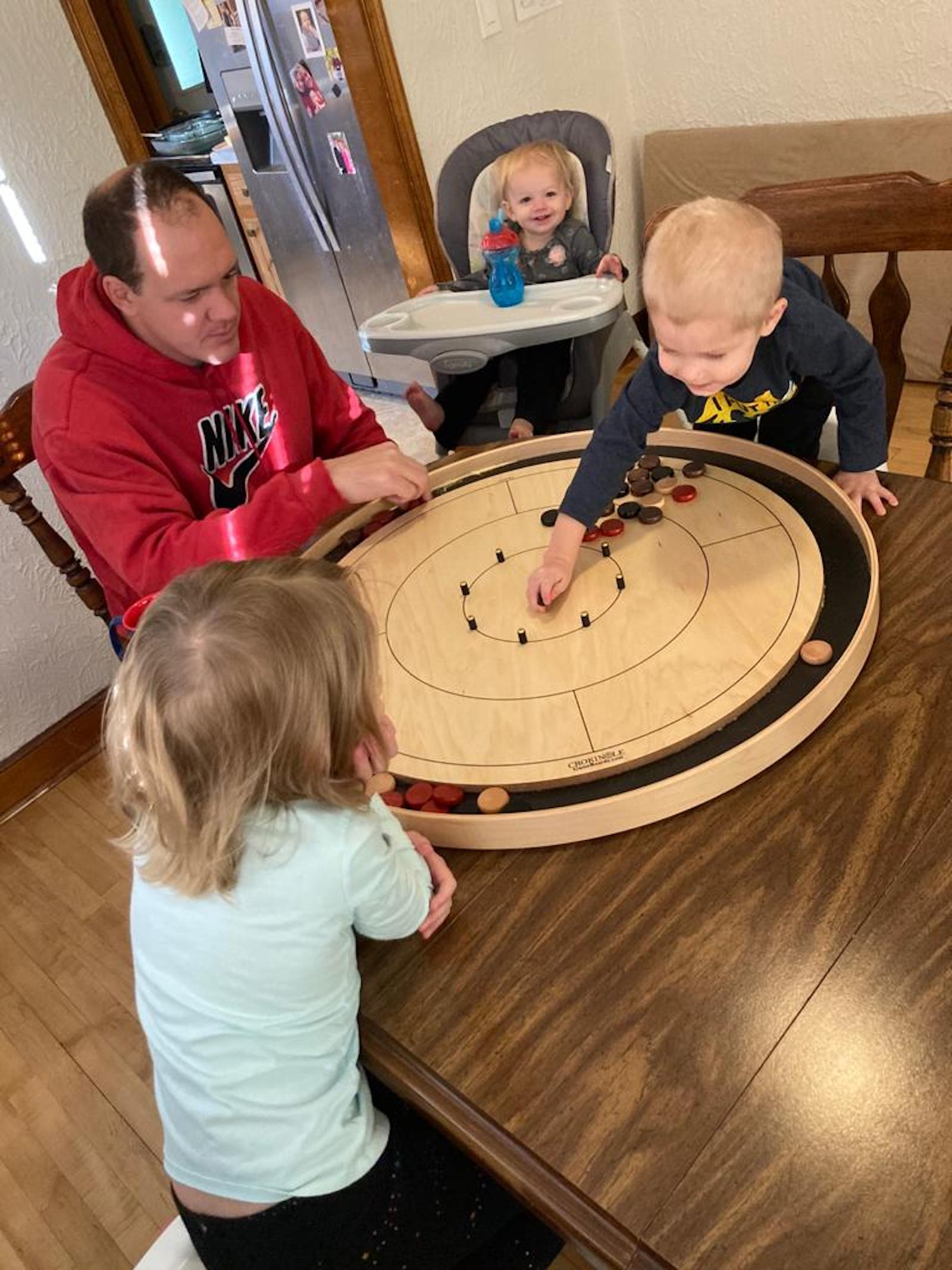 Testimonial Image from Happy Customer for Crokinole Game Boards