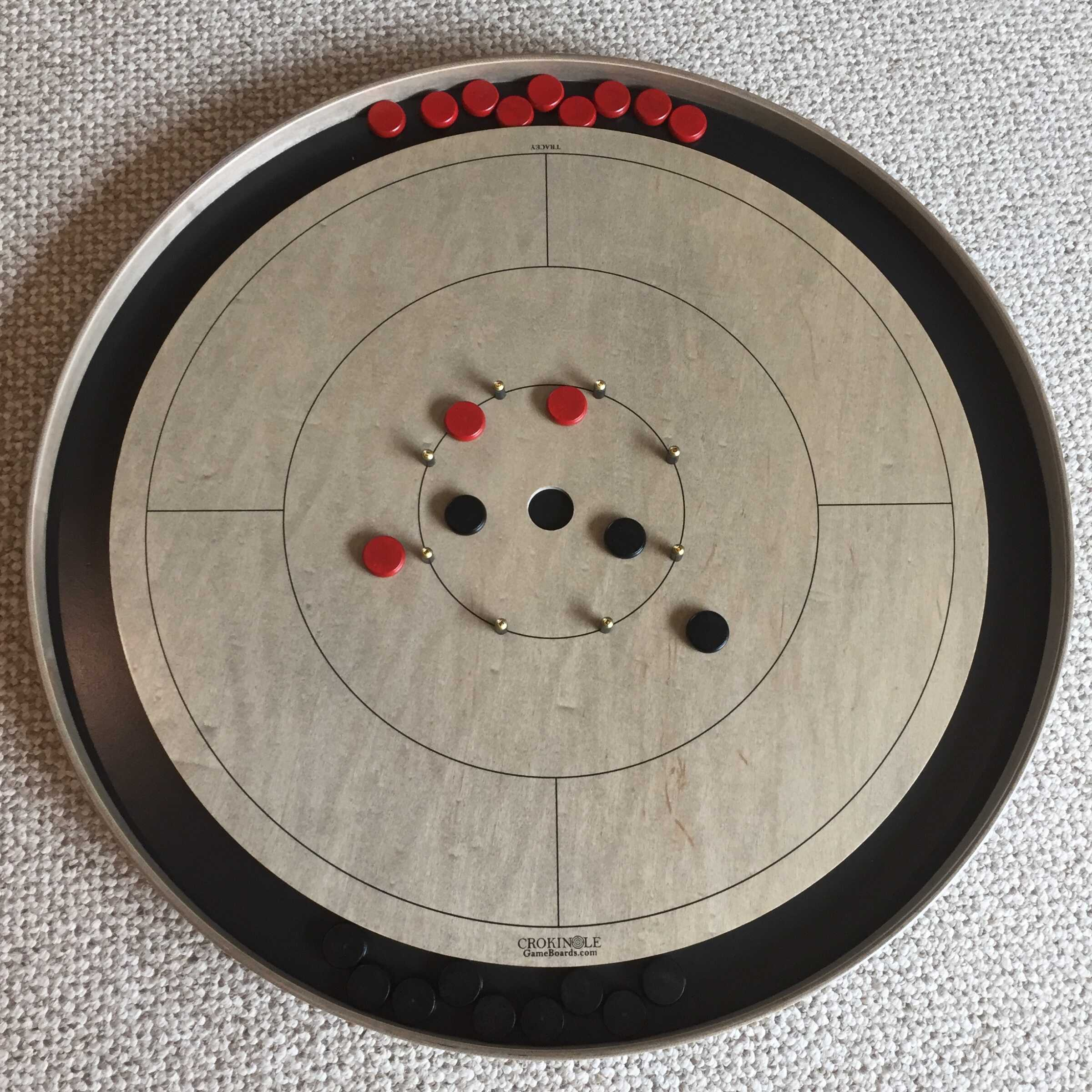 Testimonial Picture from Alicia in BC for Crokinole Game Boards