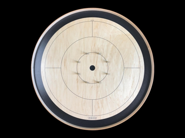 Tracey Tour Crokinole Board (Black Edition) by Crokinole Game Boards