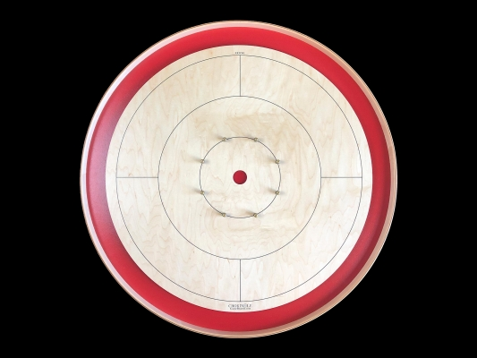 Tracey Tour Crokinole Board (Red Edition) by Crokinole Game Boards