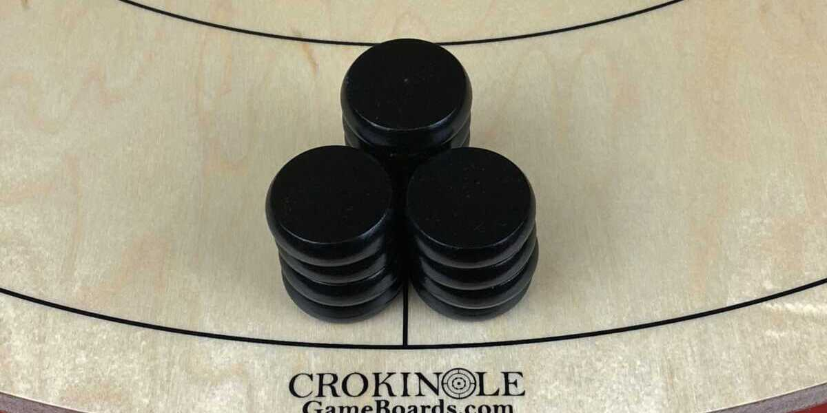 Black Crokinole Buttons (Close) Logo - Crokinole Game Boards
