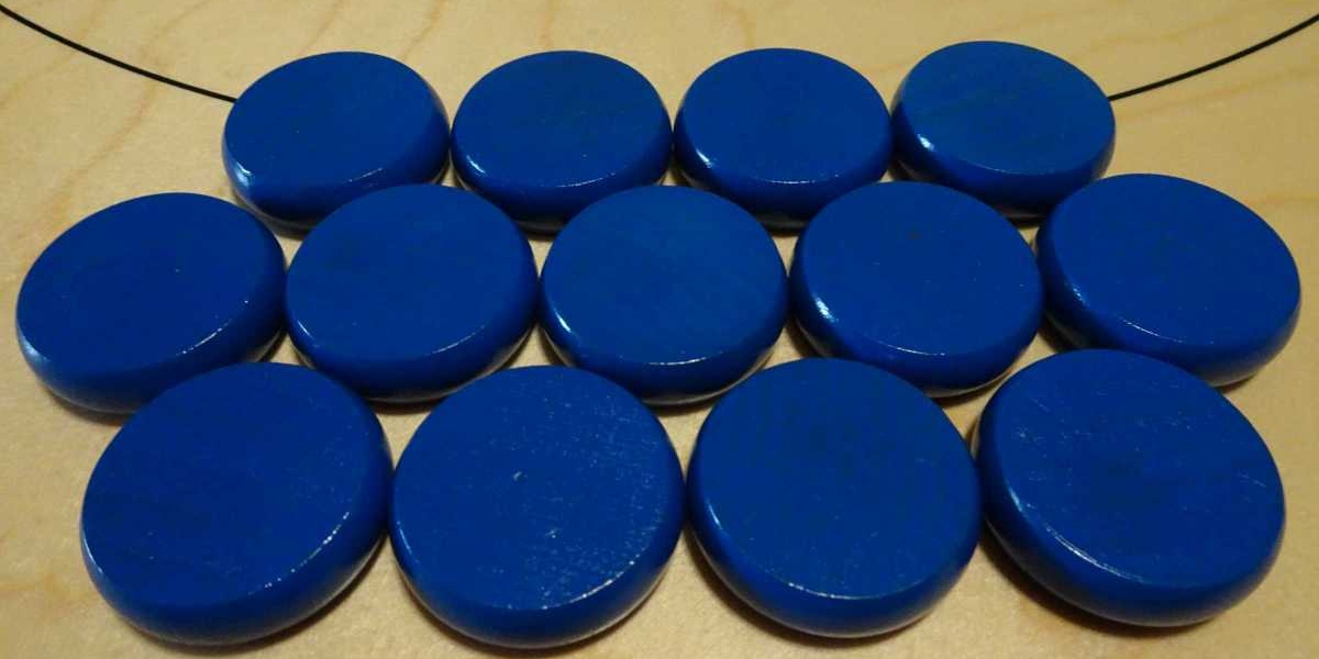 Blue Crokinole Buttons by Crokinole Game Boards