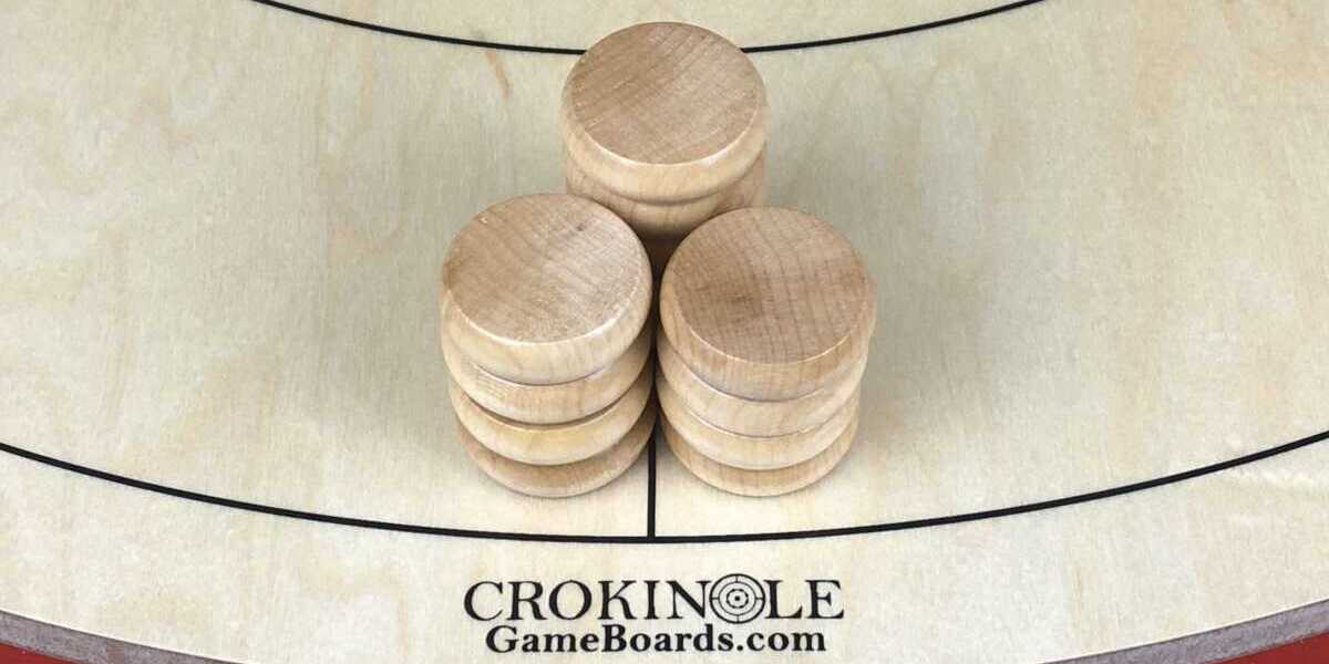 Natural Crokinole Buttons (Close) Logo - Crokinole Game Boards