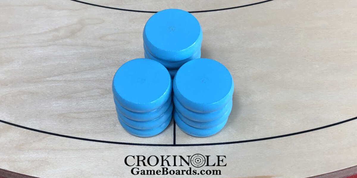 Turquoise-Crokinole-Buttons-Close-Logo-Crokinole-Game-Boards